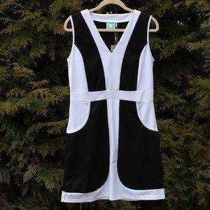 VFish Stylish V-Neck Colorblock Dress NWT!!!